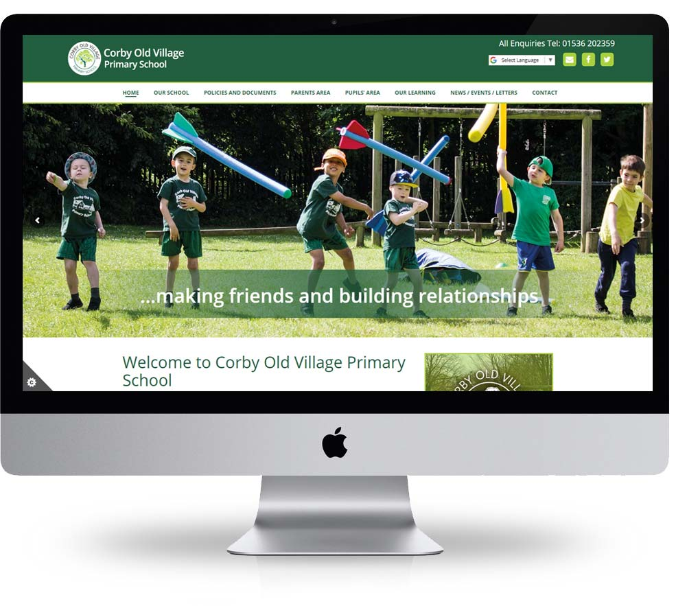 corby old village primary school website design built and hosted by spike dm
