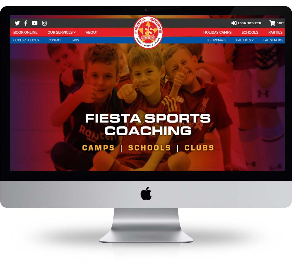 Fiesta sports coaching web design corby