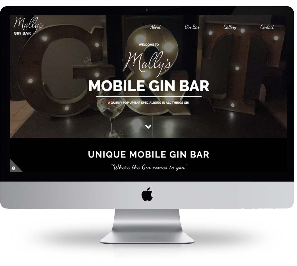 Mally's website design built and hosted by spike dm